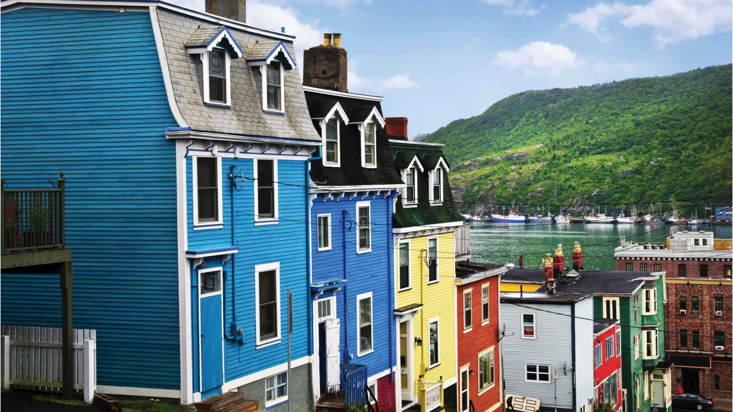 Coulourful houses in a row